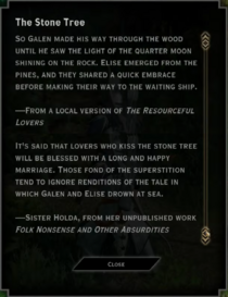 The Stone Tree Landmark Text