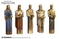 Inquisition Chantry sculptures concept