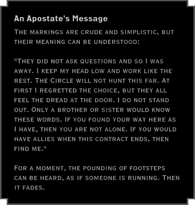Note: An Apostate's Message