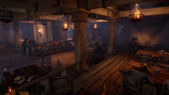 Gull and Lantern Interior