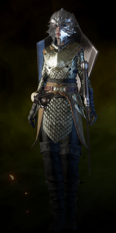 Dragon Armor Inquisition – No dlc required except for qunari and trespasser options.