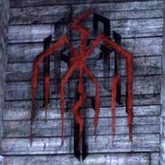 Hanged man graffiti