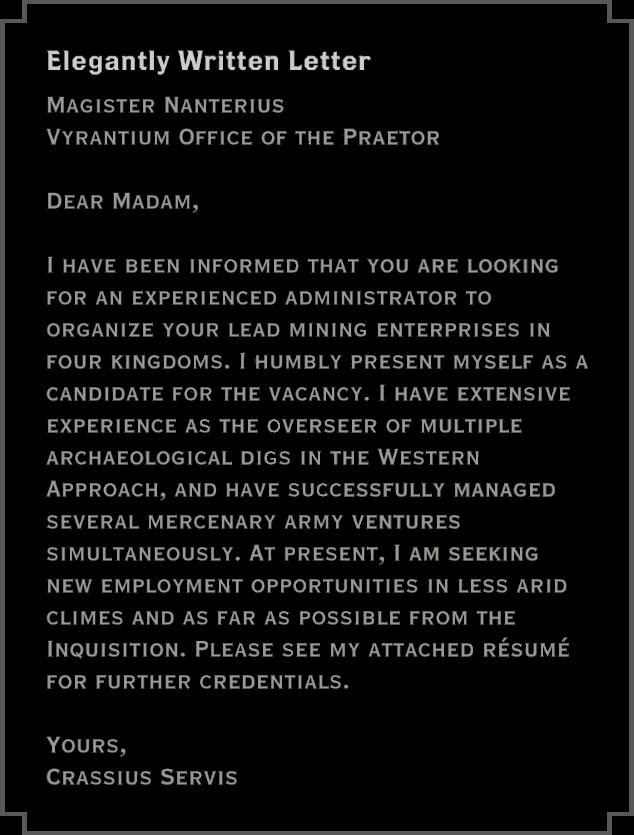 Note: Elegantly Written Letter
