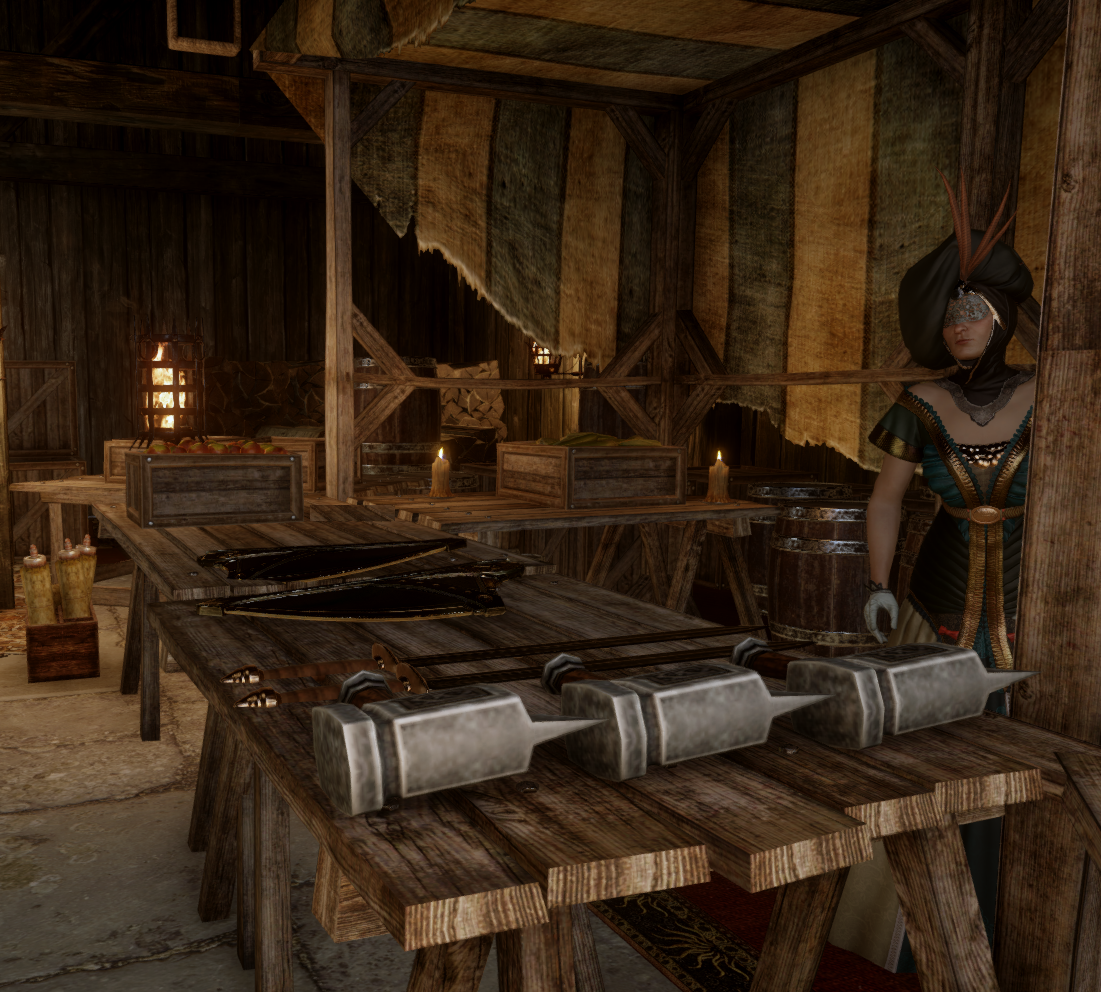 Merchant (Redcliffe Village) (Weapons and Upgrades)