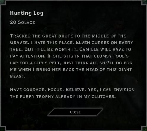 Note: Hunting Log