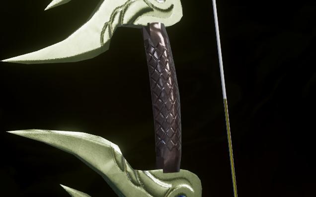 Зазубренная рукоять длинного лука