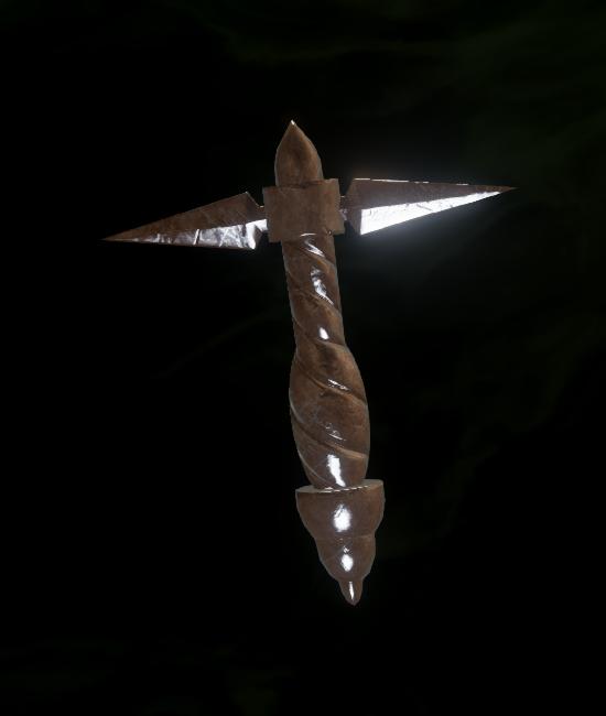 Masterwork Ornate Dagger Grip Schematic