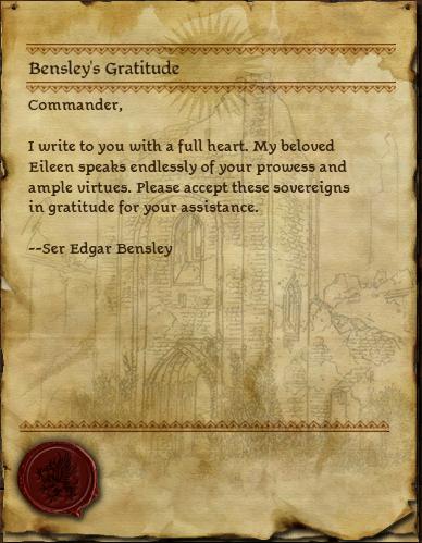 Bensley's Gratitude