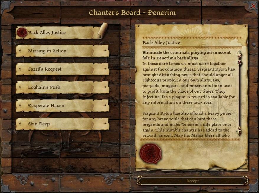 Chanter's Board