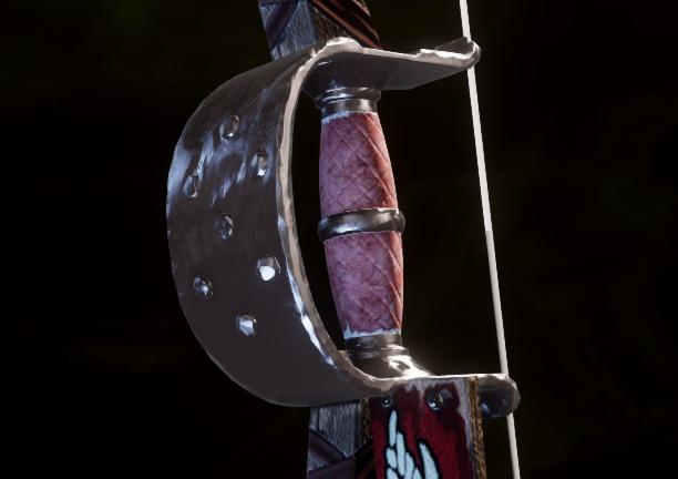 Защищенная рукоять длинного лука