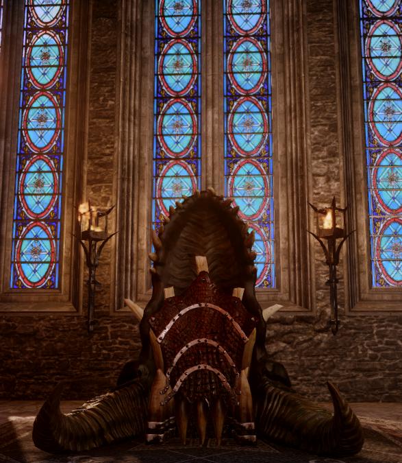 Трон из драконьего черепа