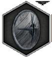 Круглый деревянный щит