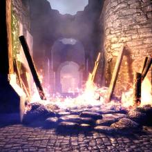 Castle Cousland under attack.png