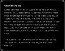 Granite Point Landmark Note