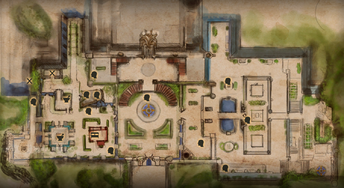 Winter Palace Outer Grounds Map