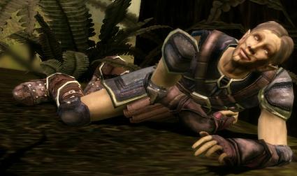 Verwundet im Wald