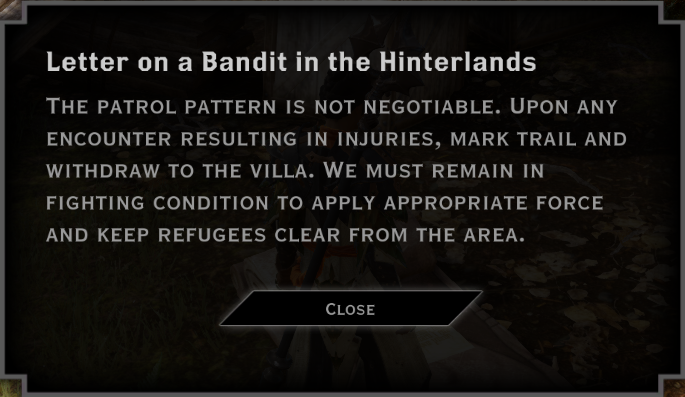 Note: Letter on a Bandit in the Hinterlands