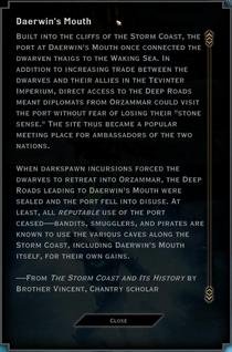Daerwin's Mouth Landmark Text