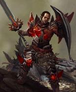 Samson Red Templar Heroes of Dragon Age Art