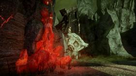 Red lyrium in the fade
