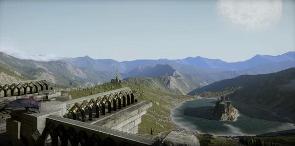 Эльфийские руины в горах