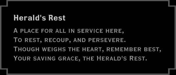 Note: Herald's Rest (plaque)