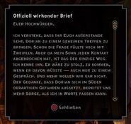 Brief von Dorians Vater 1