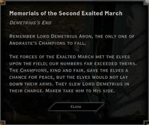 Demetrius's End Landmark Text