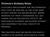 Note: Vivienne's Alchemy Notes