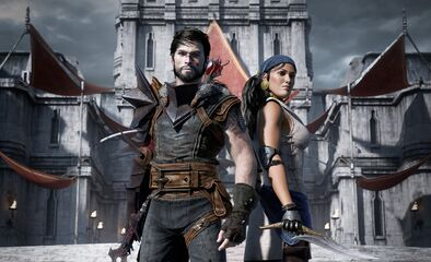 Wallpaper Dragon Age 2 Hawke and Isabela