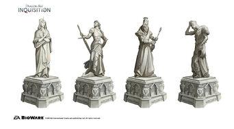 Inquisition Chantry sculptures concept 2