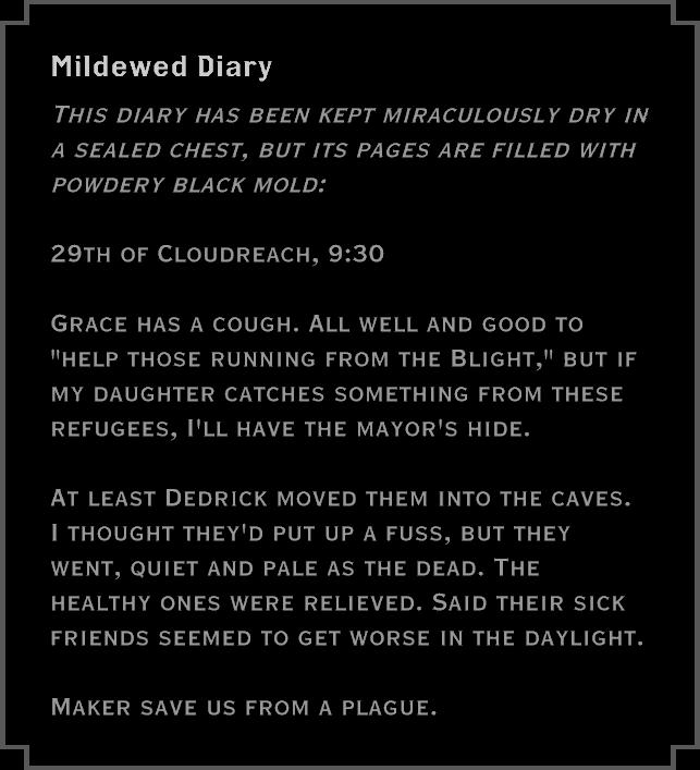 Note: Mildewed Diary