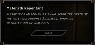 Maferath Repentant Landmark Text