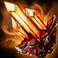 Большой выщербленный огненный кристалл