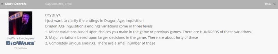 TemplarCode/Dragon Age: Inquisition soll fünf riesige Gebiete und 40 Enden bieten