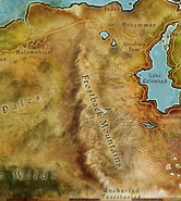Frostback Mountains map