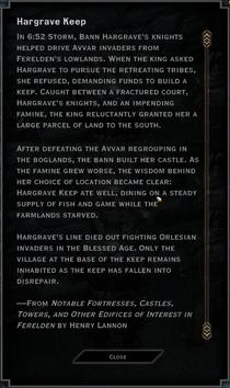 Hargrave Keep Codex