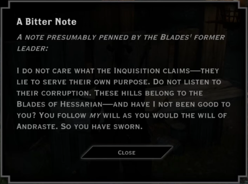 Note: A Bitter Note