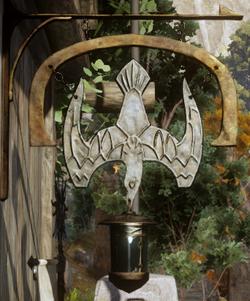 Gull and Lantern sign
