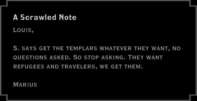 Note: A Scrawled Note