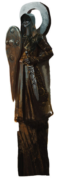 Andraste statue