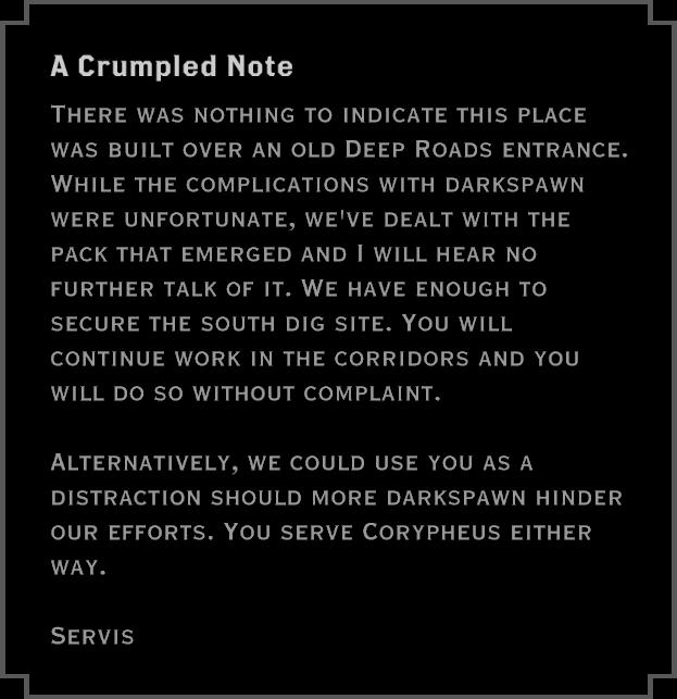Note: A Crumpled Note