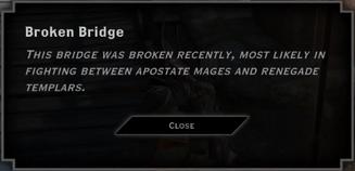 Broken Bridge Landmark Text