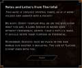 Notes and Letters from Therinfal 3