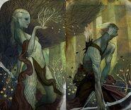 Elven tarot card