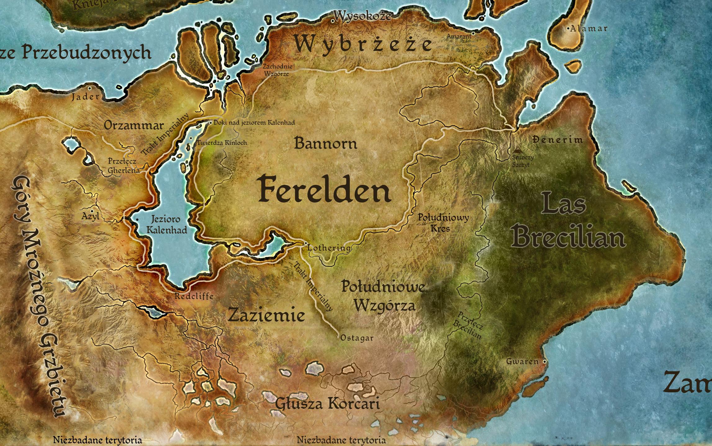 Kodeks: Geografia Fereldenu