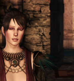 Morrigan at castle.png