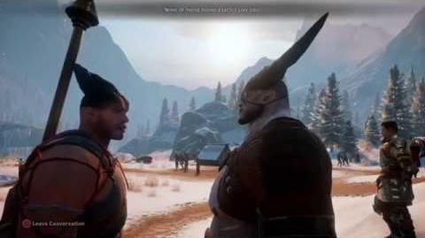 Dragon Age Inquisition - Every Iron Bull Cutscene (Romanced) -Part 1-