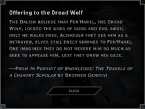 Offering to the Dread Wolf Landmark Text