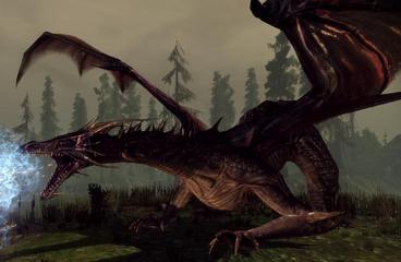 Flemeth High Dragon form in Origins Image